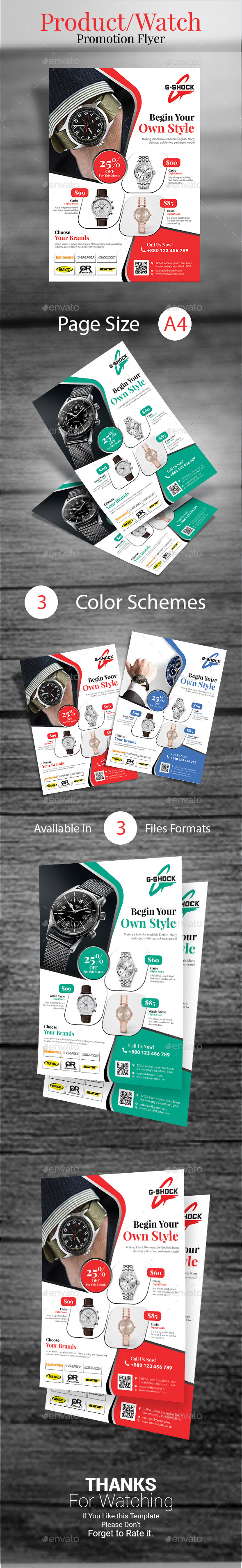 Watch/Product Promotional Flyer - Commerce Flyers