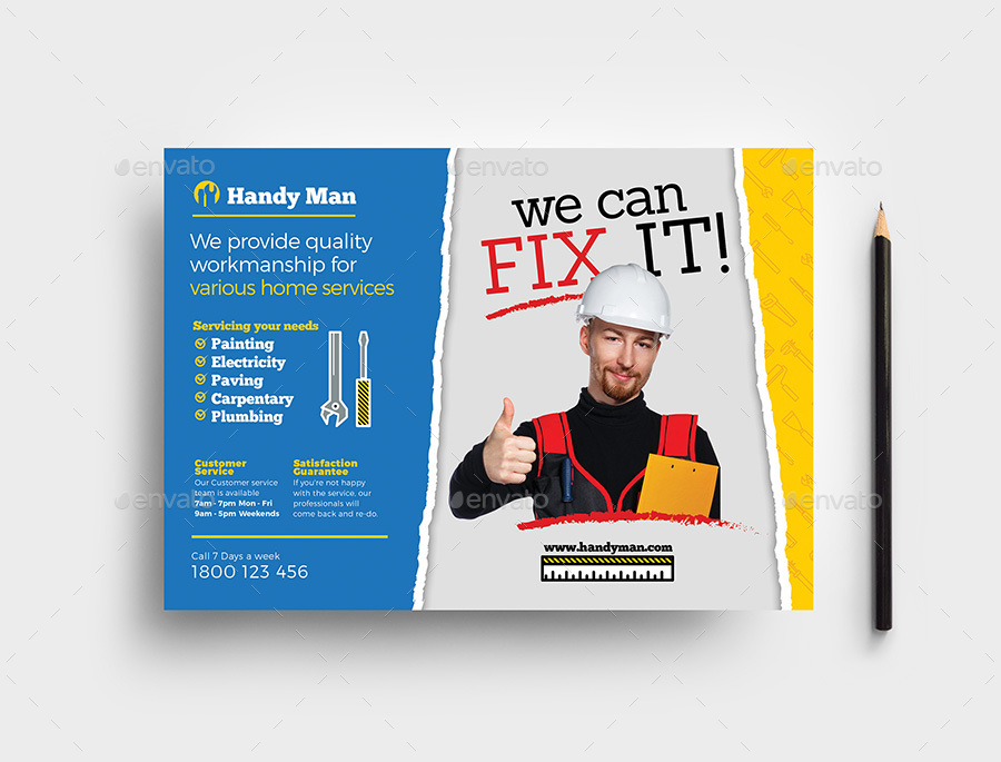 Handyman Flyer Template By Brandpacks Graphicriver