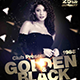 Golden Black Party Flyer - GraphicRiver Item for Sale