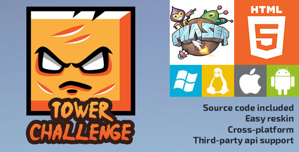 Tower Challenge - HTML5 Game - Phaser - CodeCanyon Item for Sale