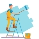 Professional Painter Vector. Painting Brush