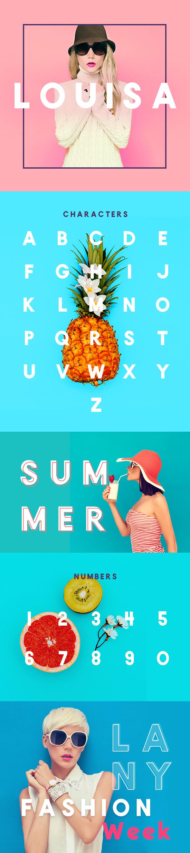 Louisa Sans Serif - Elegant Bold Fashion Headline, Title Font - Sans-Serif Fonts