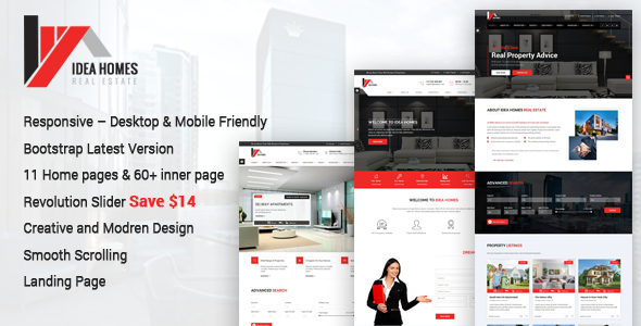 Idea homes - Real Estate Bootstrap Template - Business Corporate