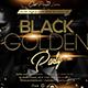 Golden Black Party Flyer