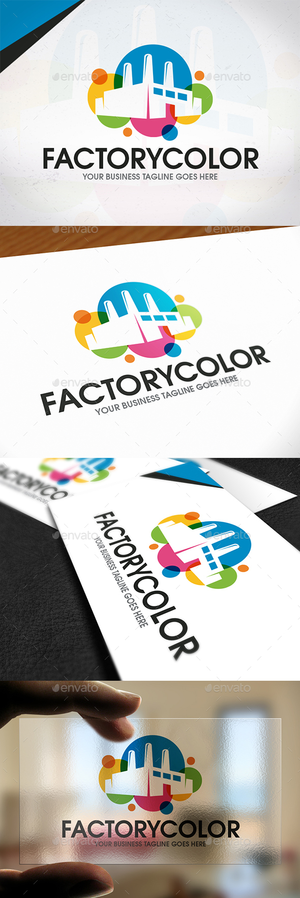 Creative Industry Logo Template - Buildings Logo Templates