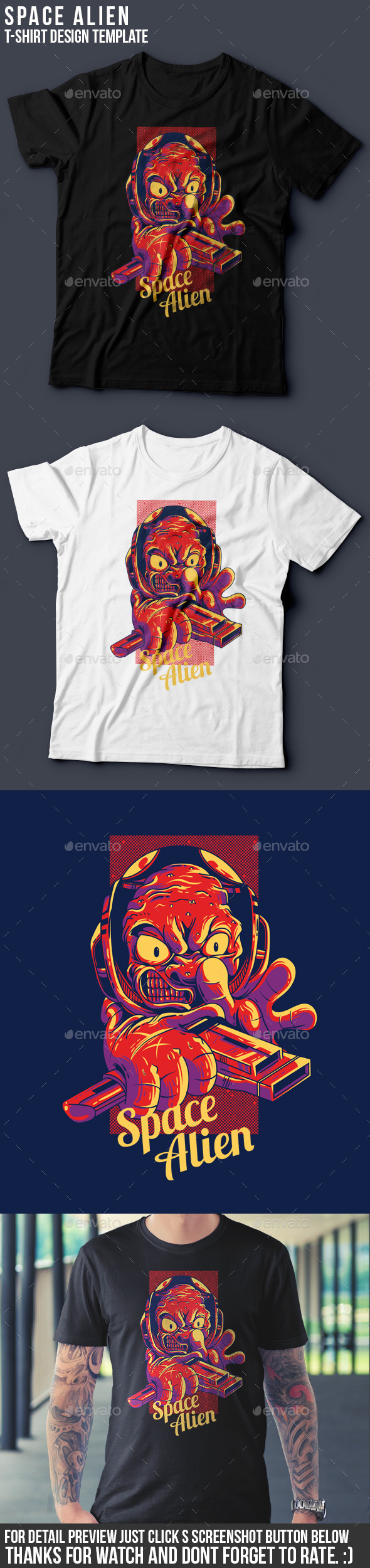 Alien Space T-Shirt Design - Funny Designs