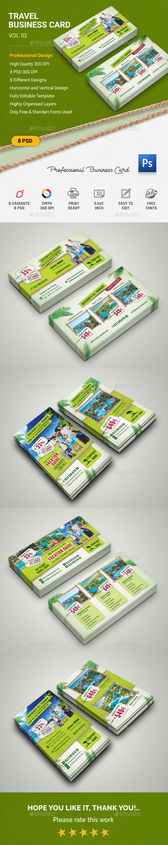 Travel Business Card - Business Cards Print Templates