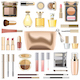 Vector Makeup Cosmetics with Golden Cosmetic Bag - GraphicRiver Item for Sale