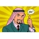 Thumbs Up Arab Businessman