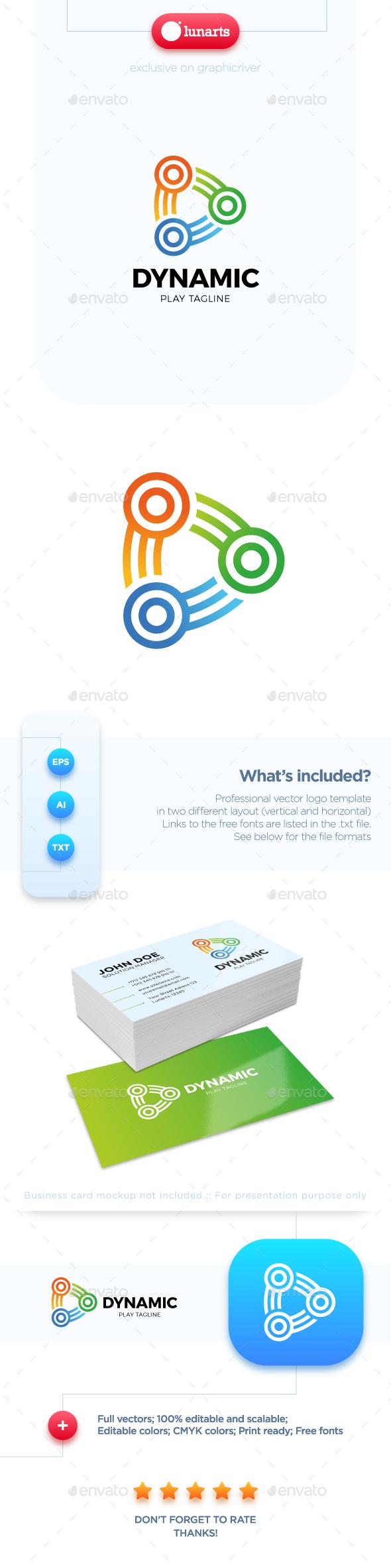 Dynamic Play Logo - Symbols Logo Templates