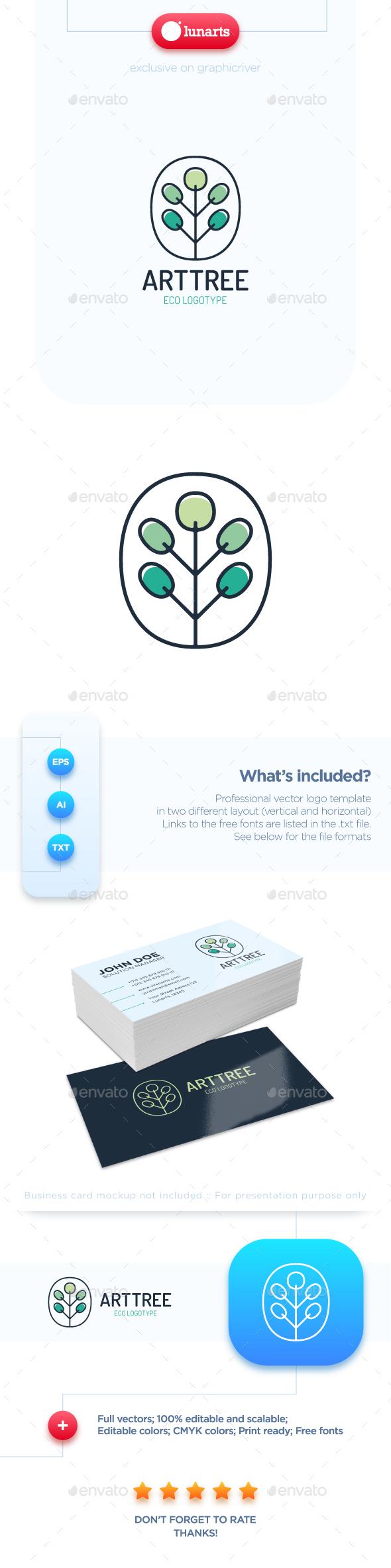 Art Tree Logo - Nature Logo Templates