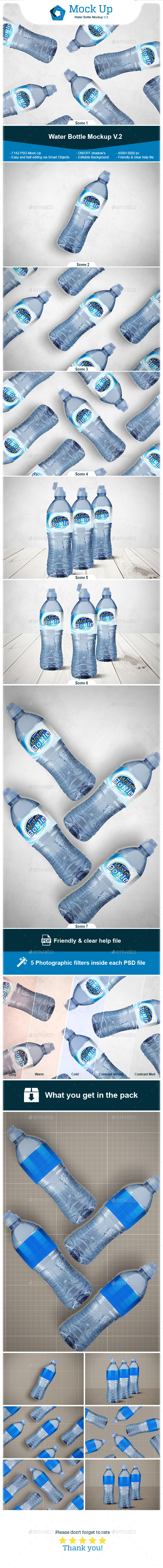 Water Bottle Mockup V.2 - Miscellaneous Print