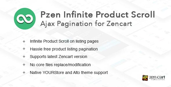 Pzen Infinite Scroll for Zencart - Ajax Pagination - CodeCanyon Item for Sale