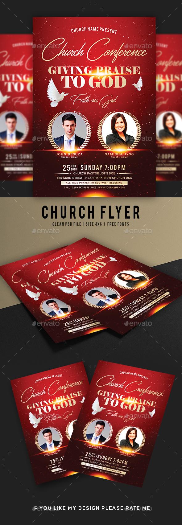 Praise Worship Church Flyer - Events Flyers