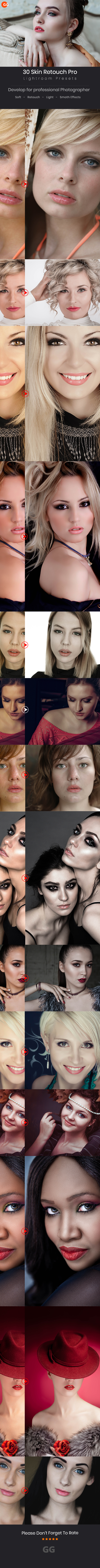 30 Skin Retouch Pro Lightroom Preset - Portrait Lightroom Presets