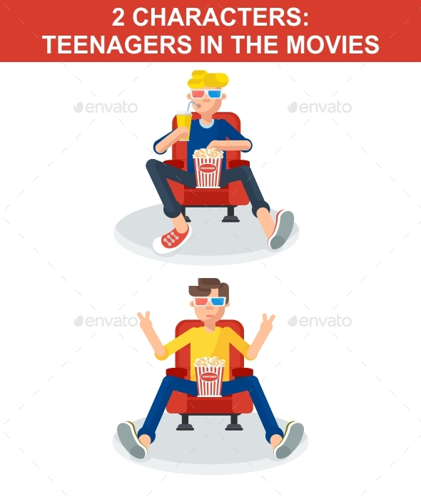 2 Teenagers in Movies - People Characters