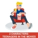 2 Teenagers in Movies - GraphicRiver Item for Sale