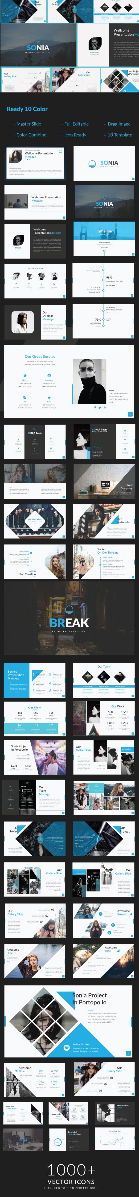 Sonia Creative Presentation - Creative PowerPoint Templates