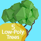 Low Poly Tree Pack - 3DOcean Item for Sale