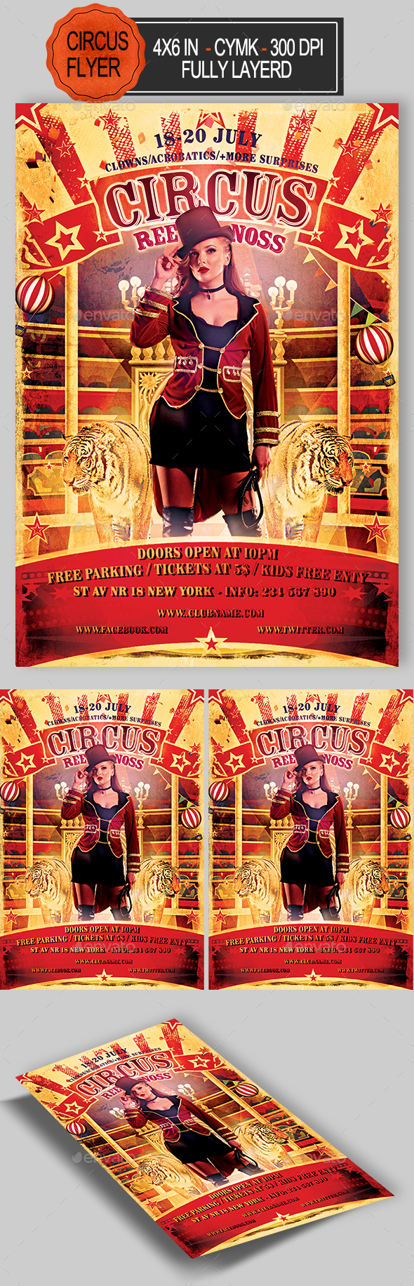Circus Flyer - Clubs & Parties Events