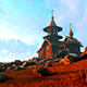 Wooden Church On Top Of A Mountain - VideoHive Item for Sale