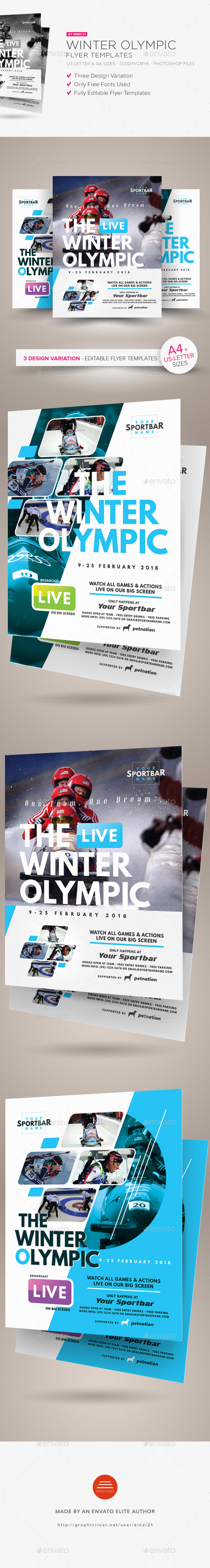 Winter Olympic Flyer Templates - Sports Events