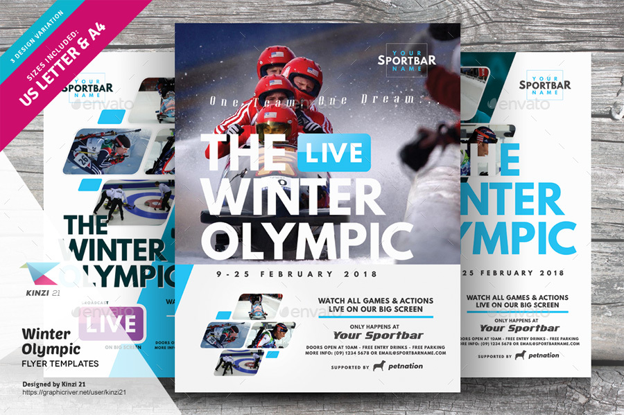 winter olympic flyer templates by kinzi21