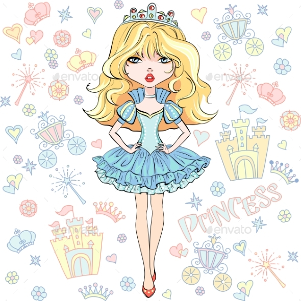 Vector Girl Princess - People Characters