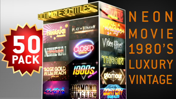 Videohive Ultimate 3D Titles Pack 21324168 - Free download