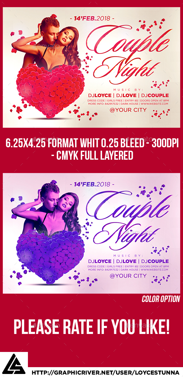 Couple Night Flyer Template - Print Templates