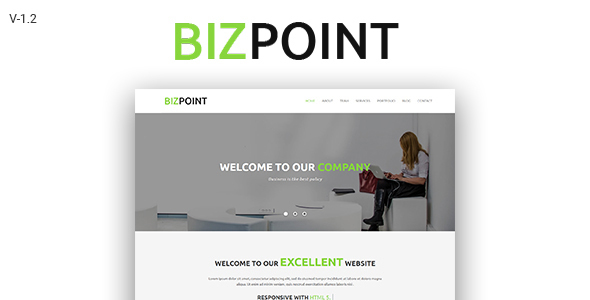 Biz Point - One Page Parallax HTML5 Template - Creative Site Templates