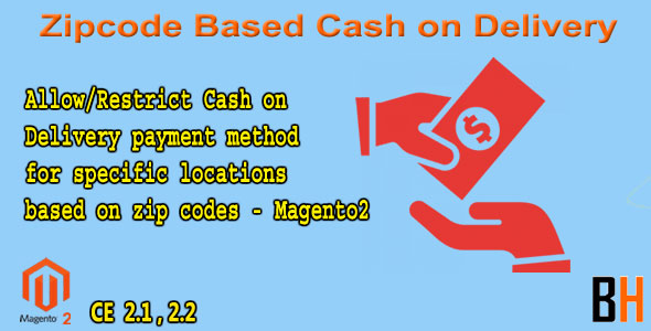 Zipcode Based Cash on Delivery Magento2 - CodeCanyon Item for Sale