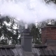 Smoking Chimney and Pipe on the Top of a House with Heat Flicker - VideoHive Item for Sale