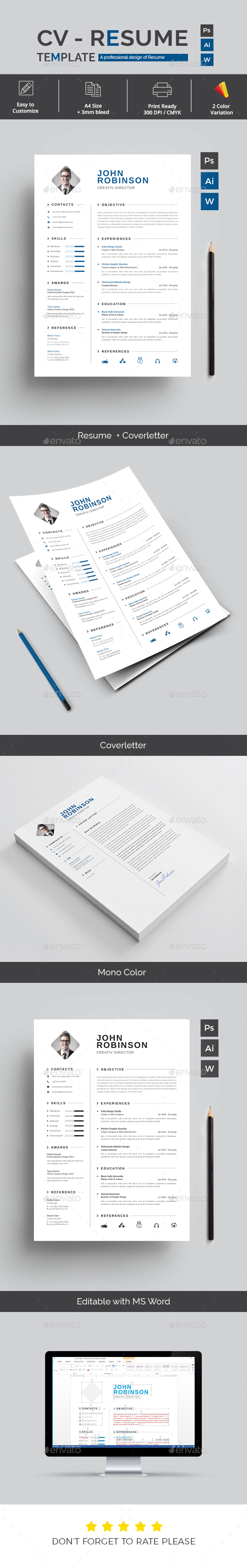Elegant Resume - Resumes Stationery