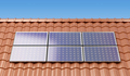 Solar panels on the roof of a house, producing electricity - PhotoDune Item for Sale