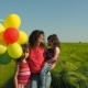 Happy Family with Balloons. - VideoHive Item for Sale
