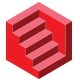 Hexagonal Stairs Logo