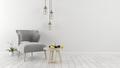 white interior design 3D rendering - PhotoDune Item for Sale