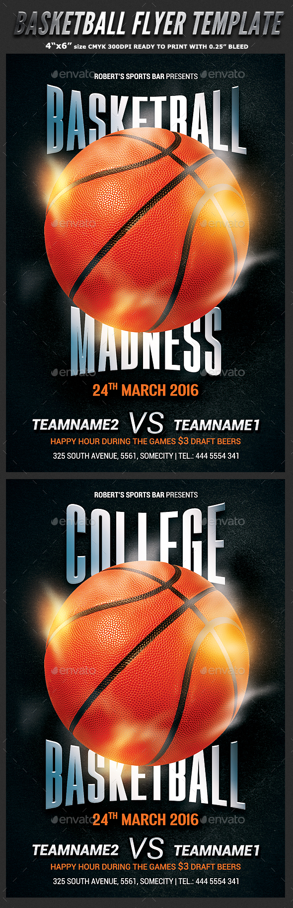 Basketball Game Flyer Template - Sports Events