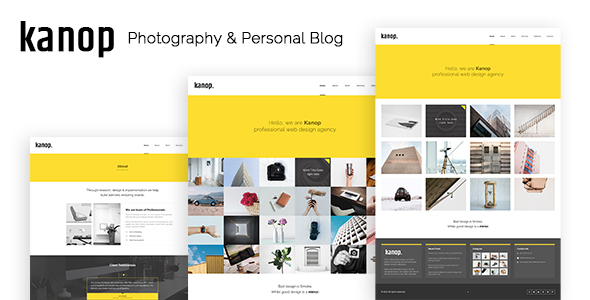 Kanop - Photography & Personal Blog HTML Template - Photography Creative