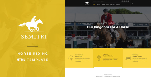 Image of Semitri - Horse Riding HTML Template