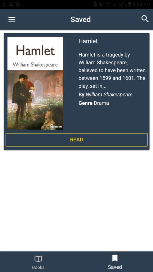 Book Reader - Ionic 3 App