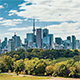 The Skyline of Toronto, Canada as seen from the East of the City - VideoHive Item for Sale
