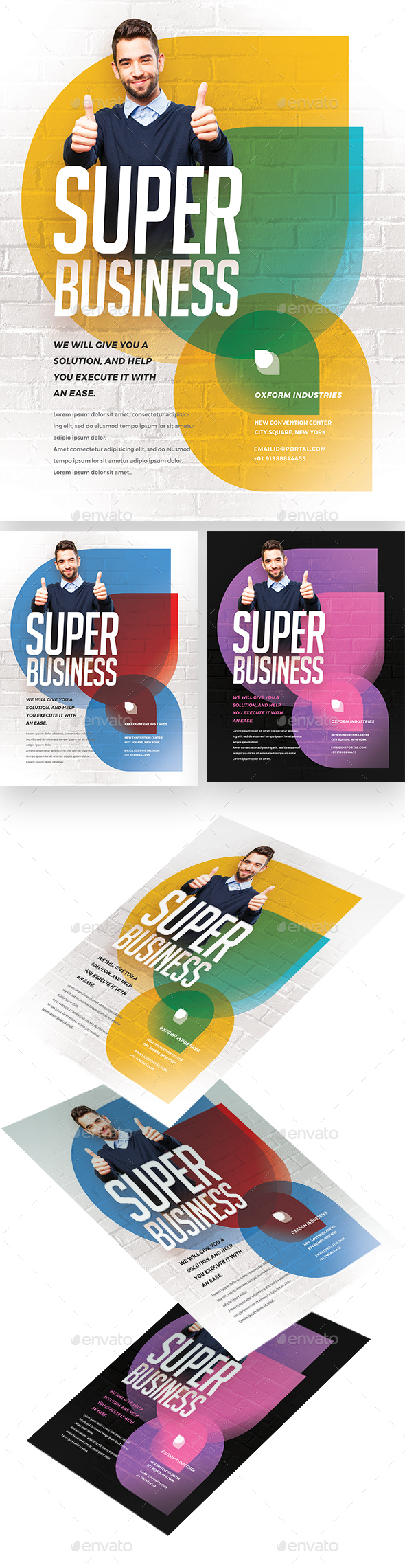 Super Colorful Corporate Flyer - Corporate Flyers
