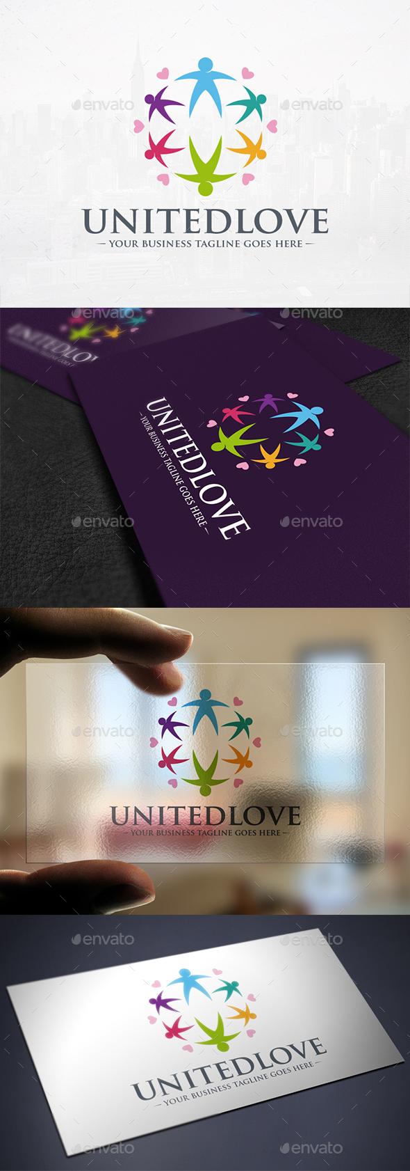 United Love Creative Logo - Humans Logo Templates