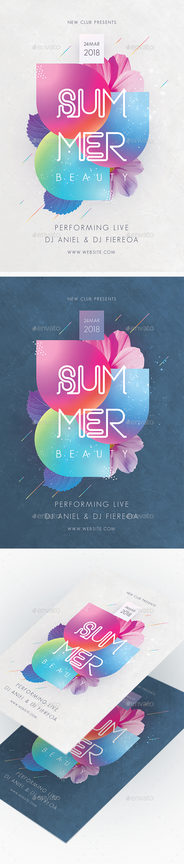 Summer Beauty Party Flyer - Clubs & Parties Events