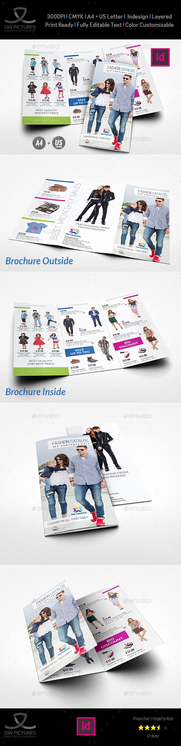 Fashion Catalog Tri-Fold Brochure Template - Catalogs Brochures