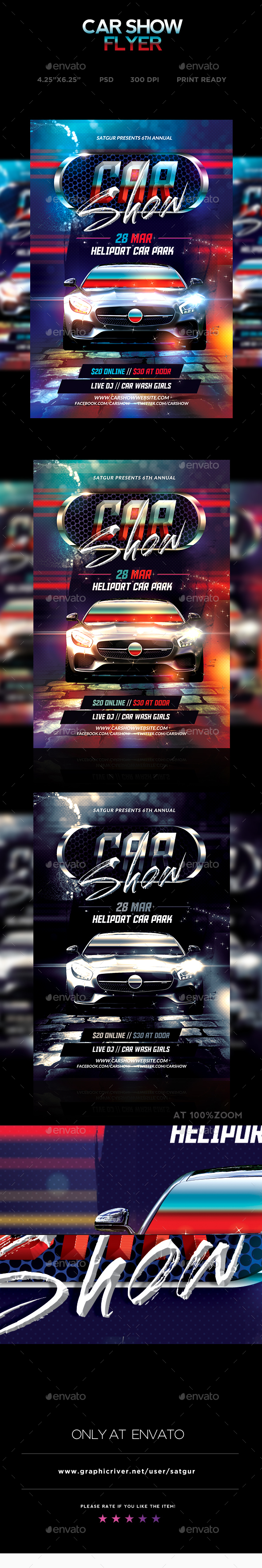 Car Show Flyer - Street - Miscellaneous Events