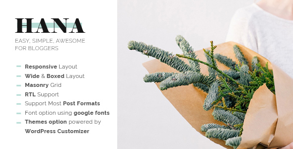 Hana - Responsive WordPress Blog Theme