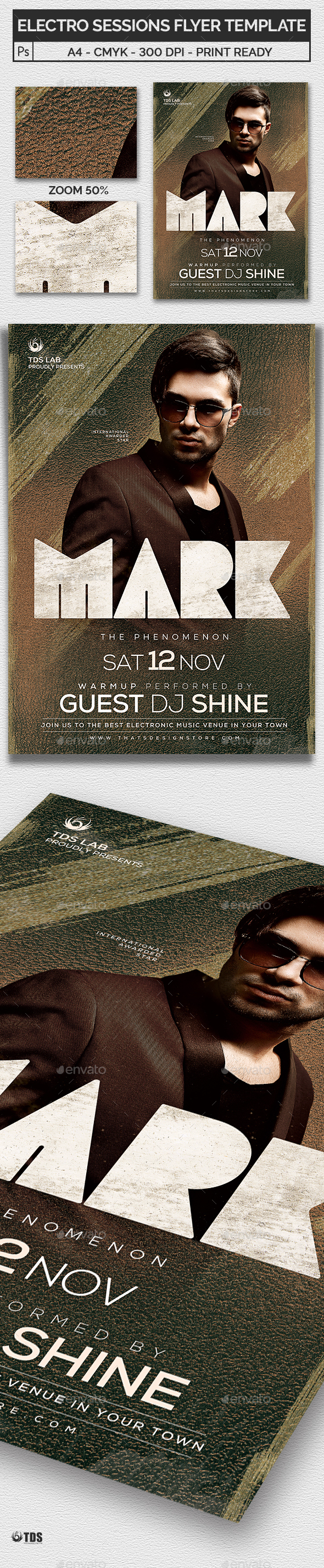 Electro Sessions Flyer Template - Clubs & Parties Events